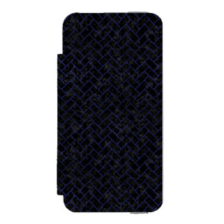 BRICK2 BLACK MARBLE & BLUE LEATHER INCIPIO WATSON™ iPhone 5 WALLET CASE