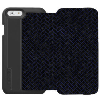 BRICK2 BLACK MARBLE & BLUE LEATHER INCIPIO WATSON™ iPhone 6 WALLET CASE
