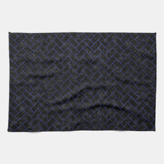 BRICK2 BLACK MARBLE & BLUE LEATHER KITCHEN TOWEL