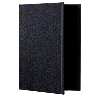 BRICK2 BLACK MARBLE & BLUE LEATHER POWIS iPad AIR 2 CASE