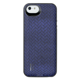BRICK2 BLACK MARBLE & BLUE LEATHER (R) iPhone SE/5/5s BATTERY CASE