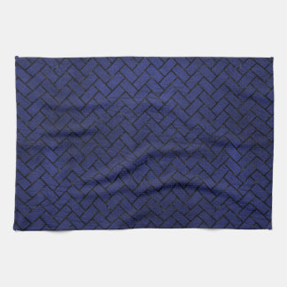 BRICK2 BLACK MARBLE & BLUE LEATHER (R) KITCHEN TOWEL