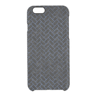 BRICK2 BLACK MARBLE & BLUE STONE CLEAR iPhone 6/6S CASE
