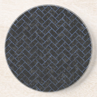 BRICK2 BLACK MARBLE & BLUE STONE COASTER