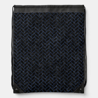 BRICK2 BLACK MARBLE & BLUE STONE DRAWSTRING BAG