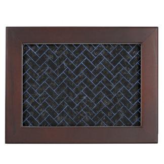 BRICK2 BLACK MARBLE & BLUE STONE KEEPSAKE BOX