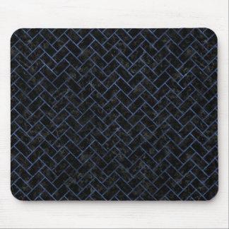BRICK2 BLACK MARBLE & BLUE STONE MOUSE PAD