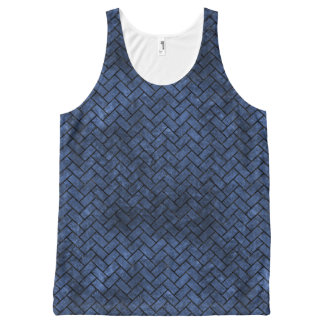 BRICK2 BLACK MARBLE & BLUE STONE (R) All-Over-Print TANK TOP