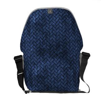 BRICK2 BLACK MARBLE & BLUE STONE (R) COURIER BAG