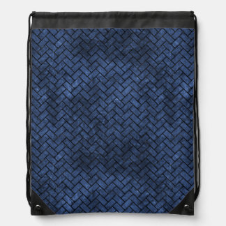 BRICK2 BLACK MARBLE & BLUE STONE (R) DRAWSTRING BAG
