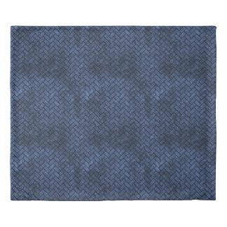 BRICK2 BLACK MARBLE & BLUE STONE (R) DUVET COVER