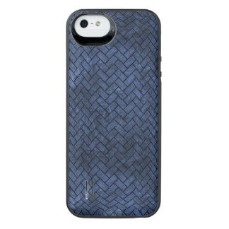 BRICK2 BLACK MARBLE & BLUE STONE (R) iPhone SE/5/5s BATTERY CASE