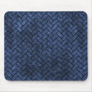 BRICK2 BLACK MARBLE & BLUE STONE (R) MOUSE PAD