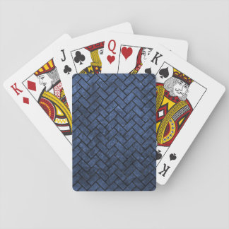 BRICK2 BLACK MARBLE & BLUE STONE (R) PLAYING CARDS