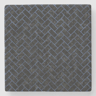 BRICK2 BLACK MARBLE & BLUE STONE STONE COASTER