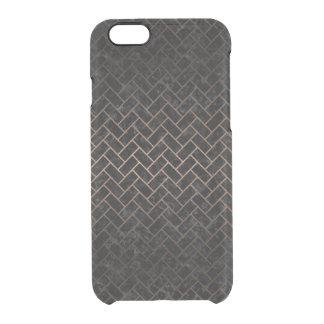 BRICK2 BLACK MARBLE & BRONZE METAL CLEAR iPhone 6/6S CASE