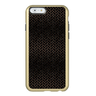 BRICK2 BLACK MARBLE & BRONZE METAL INCIPIO FEATHER® SHINE iPhone 6 CASE