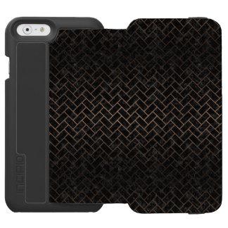 BRICK2 BLACK MARBLE & BRONZE METAL INCIPIO WATSON™ iPhone 6 WALLET CASE