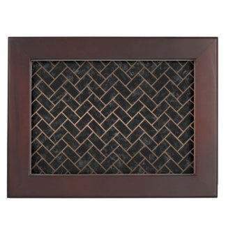 BRICK2 BLACK MARBLE & BRONZE METAL KEEPSAKE BOX