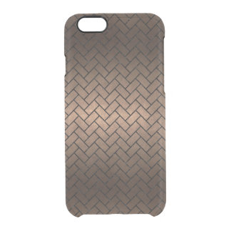 BRICK2 BLACK MARBLE & BRONZE METAL (R) CLEAR iPhone 6/6S CASE