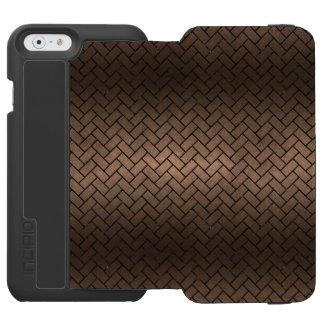 BRICK2 BLACK MARBLE & BRONZE METAL (R) INCIPIO WATSON™ iPhone 6 WALLET CASE