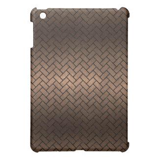 BRICK2 BLACK MARBLE & BRONZE METAL (R) iPad MINI COVERS