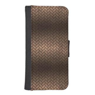 BRICK2 BLACK MARBLE & BRONZE METAL (R) iPhone SE/5/5s WALLET CASE