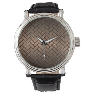 BRICK2 BLACK MARBLE & BRONZE METAL (R) WATCH