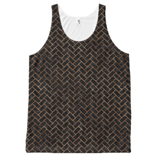 BRICK2 BLACK MARBLE & BROWN STONE All-Over-Print TANK TOP