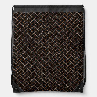 BRICK2 BLACK MARBLE & BROWN STONE DRAWSTRING BAG