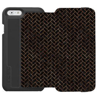 BRICK2 BLACK MARBLE & BROWN STONE INCIPIO WATSON™ iPhone 6 WALLET CASE