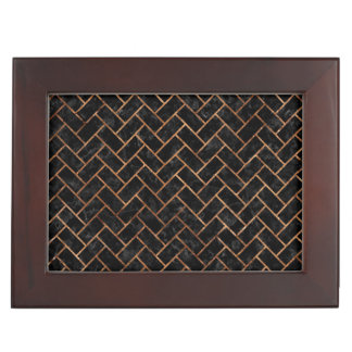 BRICK2 BLACK MARBLE & BROWN STONE KEEPSAKE BOX