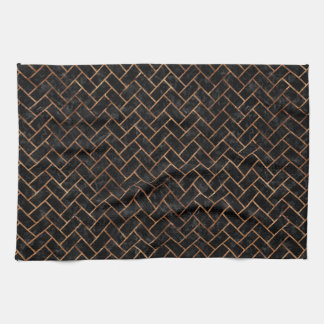 BRICK2 BLACK MARBLE & BROWN STONE KITCHEN TOWEL