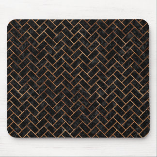 BRICK2 BLACK MARBLE & BROWN STONE MOUSE PAD