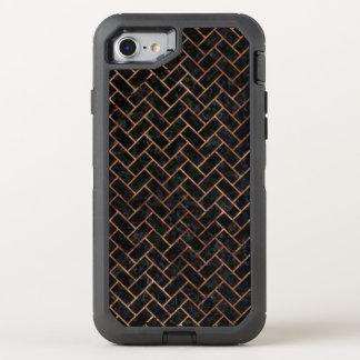 BRICK2 BLACK MARBLE & BROWN STONE OtterBox DEFENDER iPhone 8/7 CASE