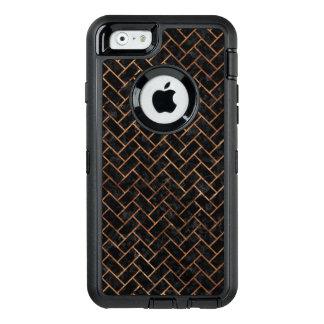 BRICK2 BLACK MARBLE & BROWN STONE OtterBox DEFENDER iPhone CASE