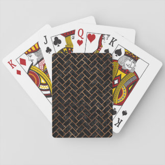 BRICK2 BLACK MARBLE & BROWN STONE PLAYING CARDS