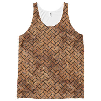 BRICK2 BLACK MARBLE & BROWN STONE (R) All-Over-Print TANK TOP