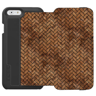 BRICK2 BLACK MARBLE & BROWN STONE (R) INCIPIO WATSON™ iPhone 6 WALLET CASE