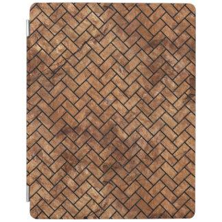 BRICK2 BLACK MARBLE & BROWN STONE (R) iPad COVER