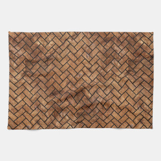 BRICK2 BLACK MARBLE & BROWN STONE (R) KITCHEN TOWEL