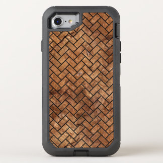 BRICK2 BLACK MARBLE & BROWN STONE (R) OtterBox DEFENDER iPhone 8/7 CASE