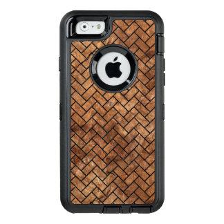 BRICK2 BLACK MARBLE & BROWN STONE (R) OtterBox DEFENDER iPhone CASE
