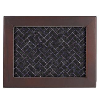 BRICK2 BLACK MARBLE & PURPLE MARBLE KEEPSAKE BOX