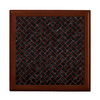 BRICK2 BLACK MARBLE & RED MARBLE GIFT BOX