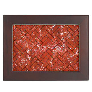 BRICK2 BLACK MARBLE & RED MARBLE (R) KEEPSAKE BOX