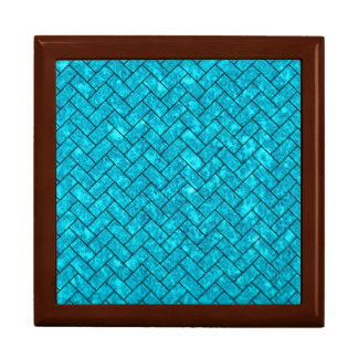 BRICK2 BLACK MARBLE & TURQUOISE MARBLE (R) GIFT BOX