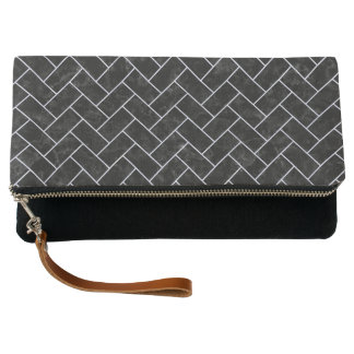 BRICK2 BLACK MARBLE & WHITE MARBLE CLUTCH