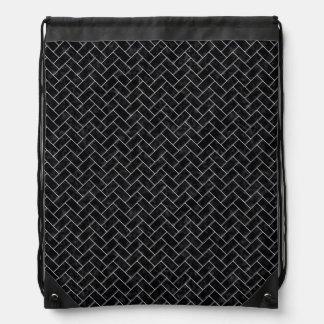 BRICK2 BLACK MARBLE & WHITE MARBLE DRAWSTRING BAG