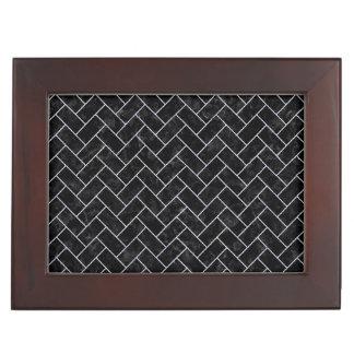 BRICK2 BLACK MARBLE & WHITE MARBLE KEEPSAKE BOX